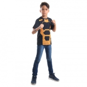 Camiseta Nerf Laranja e Preta - Acessorio Nerf