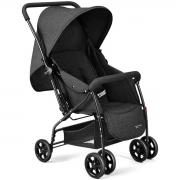 Carrinho De Bebê Com Alça Reversível Max Preto  - Multikids