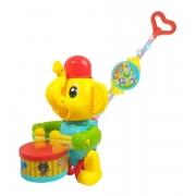 Empurra Baby Musical Brinquedo Infantil Elefante - Dm Toys