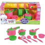 Kit Cozinha Infantil Paneleiro Panelinhas Menina - Nig