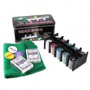 Kit Poker Profissional Em Lata 200 Fichas Texas Hold'em Set