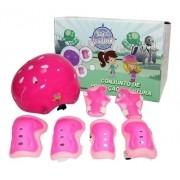 Kit Proteção Infantil Patins Skate Bicicleta Roller Rosa
