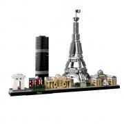 Lego Architecture França Paris Torre Eiffel 649 Peças 21044