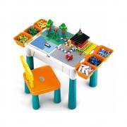 Mesa De Atividades Didática Crianças 9 em 1 P/ Montar Lego