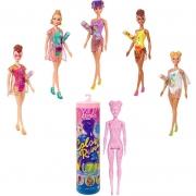 Nova Barbie Estilo Supresa Color Reveal Areia e Sol - 7 Surpresa Mattel