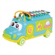 Ônibus Brinquedo Educativo Com Xilofone E Peças De Encaixar