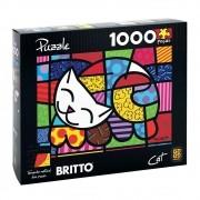 Quebra-Cabeça Puzzle Romero Britto Cat 1000 Peças - Grow