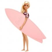Surf Studio da Barbie Loira Vestido Rosa C/ Acessórios Fun