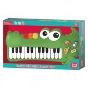 Teclado Piano Infantil Musical Divertido Jacare Baby Dm Toys