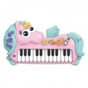 Teclado Piano Infantil Musical Divertido Unicórnio Baby