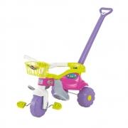 Tico Tico Festa Rosa Motoca Infantil Com Cestinha Magic Toys