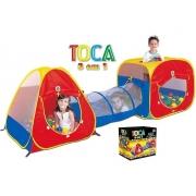 Toca Barraca Cabana 3em1 C/túnel Com 150 Bolinhas