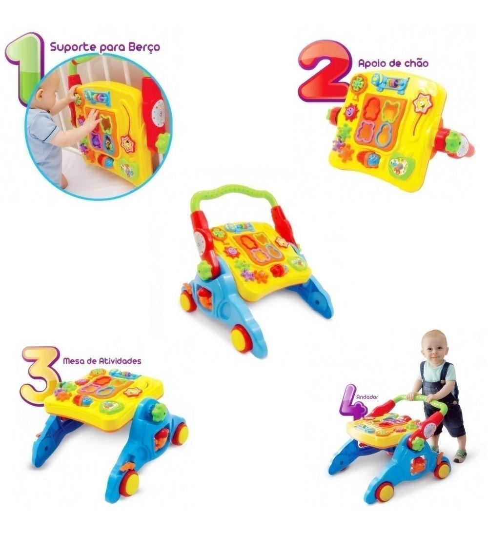 Andador Infantil Didático Bebê Criança 4 Em 1 Com Som Maral
