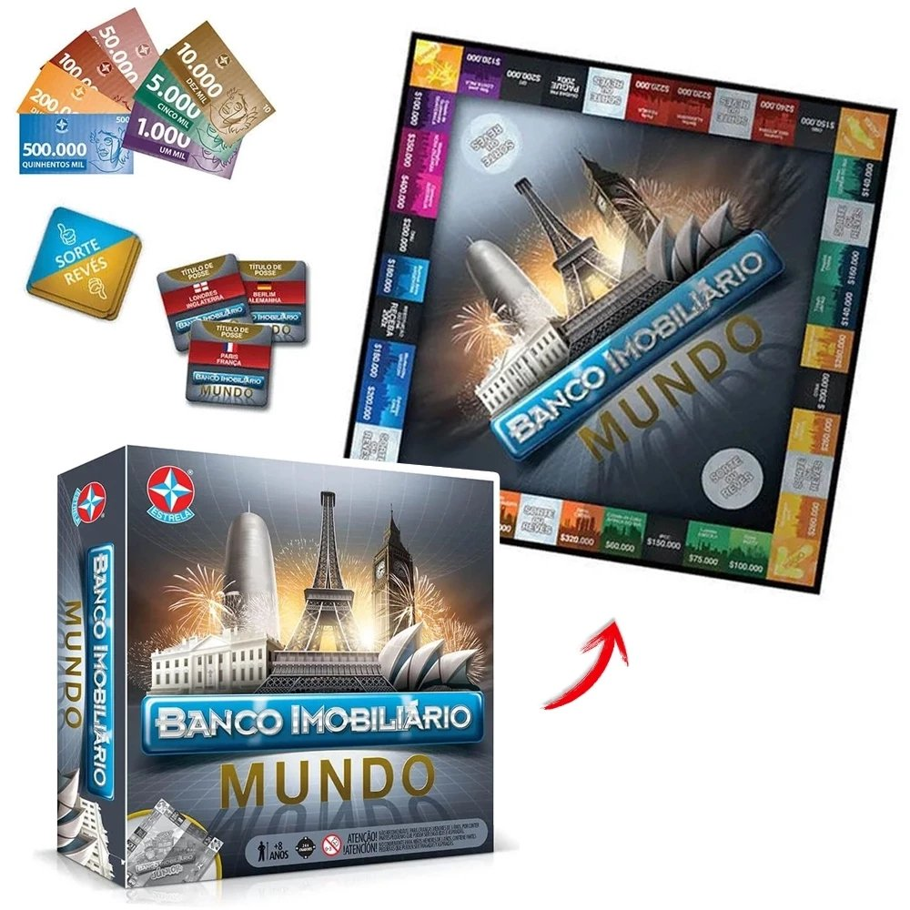 Banco Imobiliário Mundo - Original Estrela
