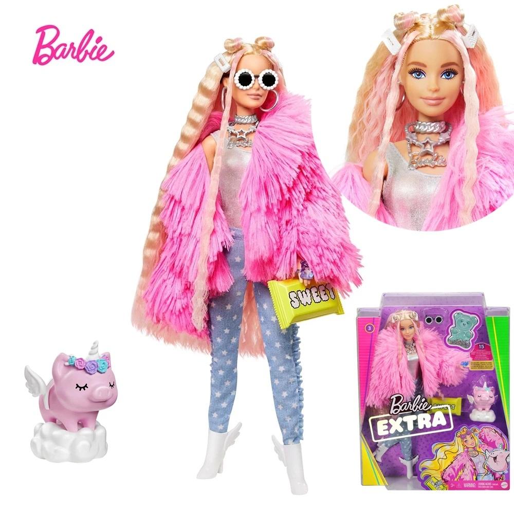 Barbie Extra Jaqueta Felpuda Com Acessorios Mattel Grn27