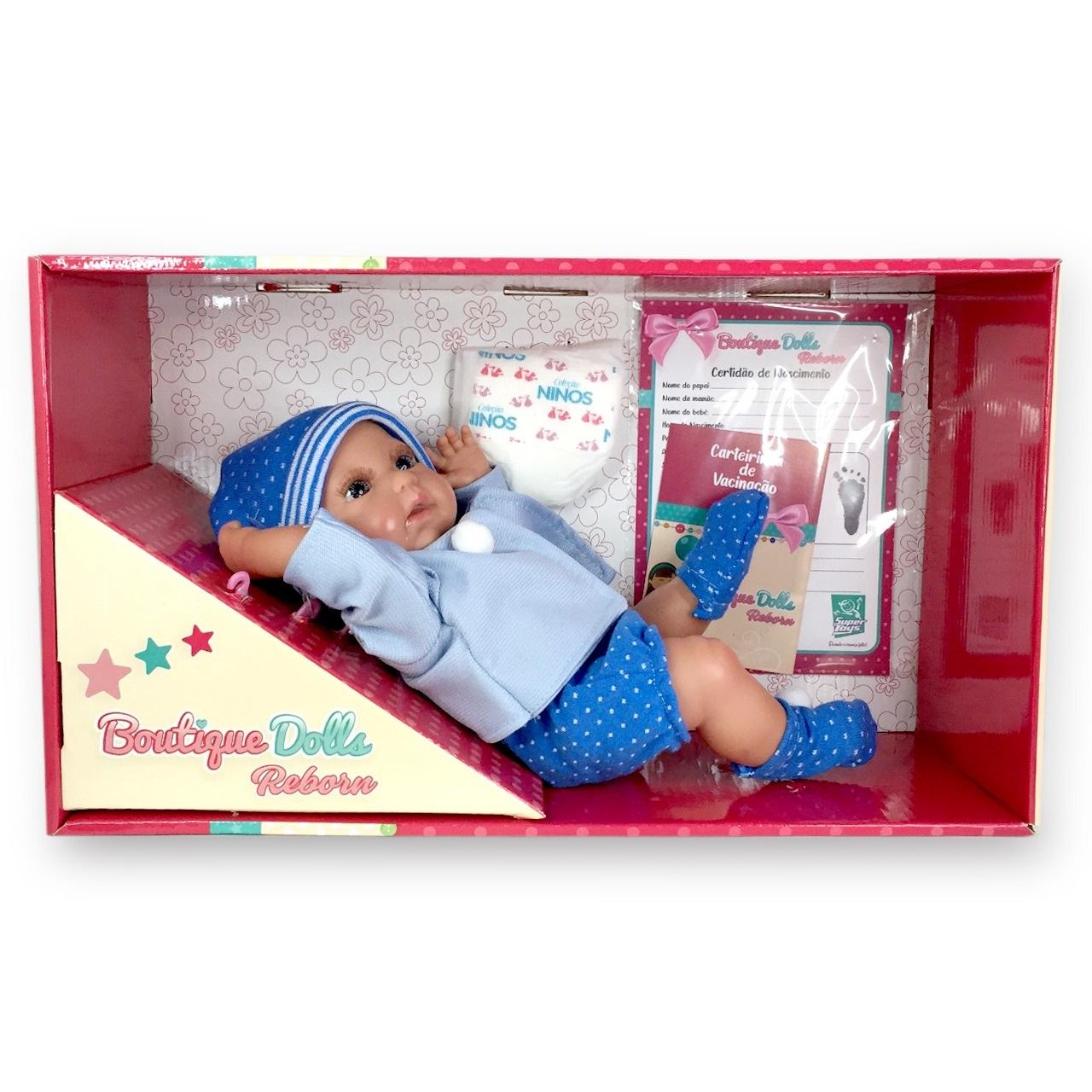 Boneco Bebê Reborn Menino Dolls Com Certidão Nascimento