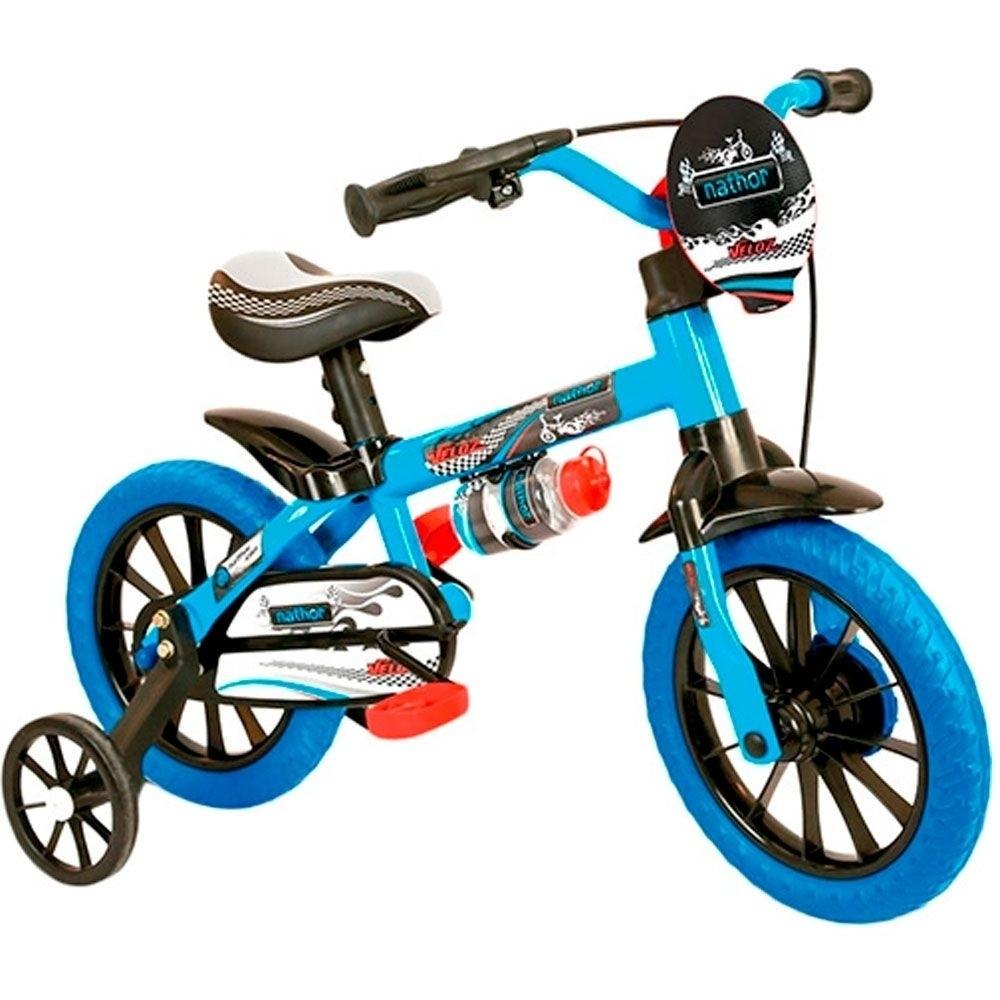Bicicleta Infantil Aro 12 Menino Veloz Azul/preta - Nathor