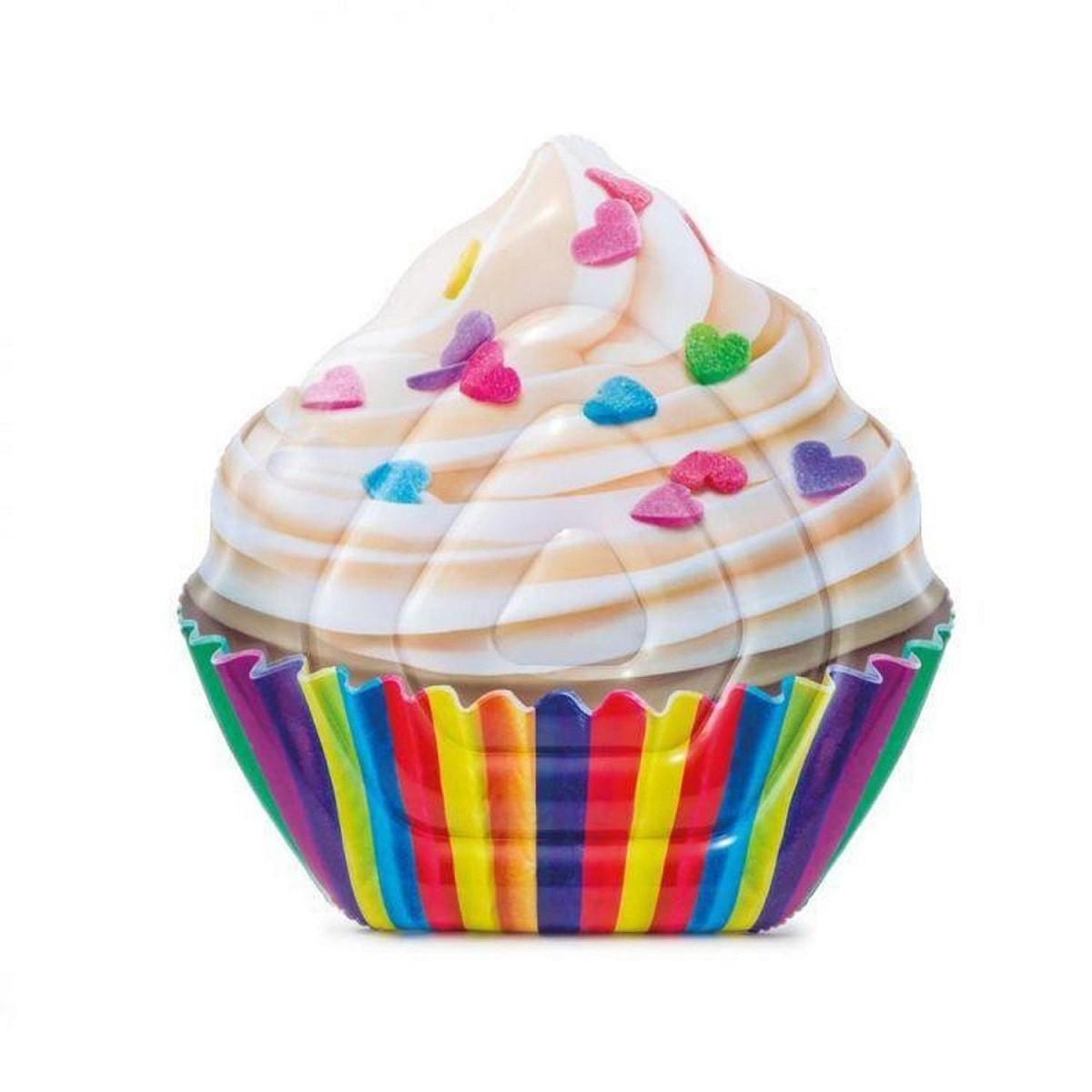 Boia Colchão Bronzeador Cupcake Inflável Piscina Intex 58770