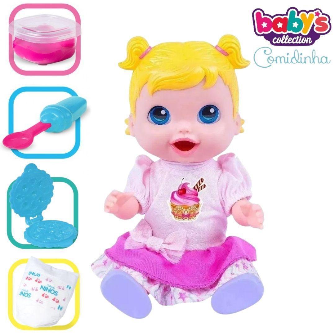Boneca Baby Come Comidinha Alive E Faz Cocô Caquinha