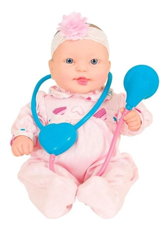 Boneca Baby Jr Bebe Dodói  C/ Som E Acessórios-Cotiplás 2188