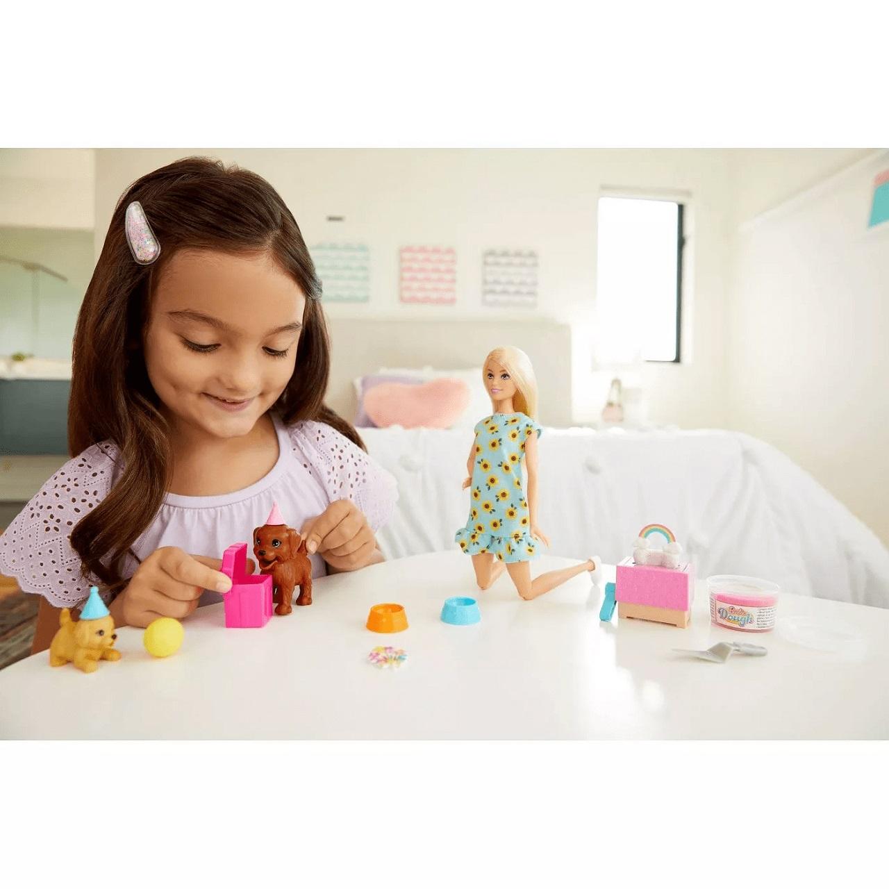 Boneca Barbie Aniversario Do Cachorrinho Puppy Party Mattel