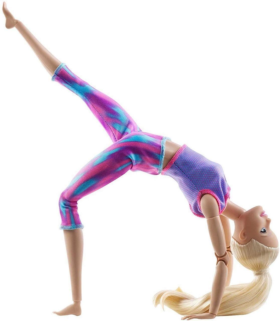 Boneca Barbie Articulada Feita P/ Mexer Loira Made To Move