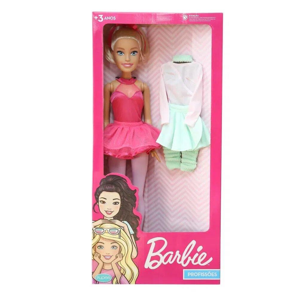 Boneca Barbie Bailarina Grande 65 cm Articulada Pupee