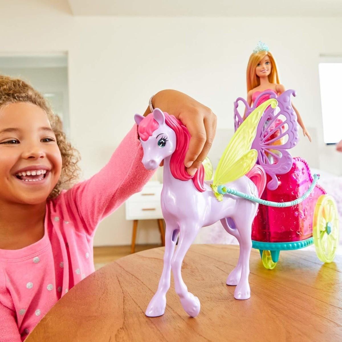 Boneca Barbie Dreamtopia Princesa Com Carruagem - Mattel