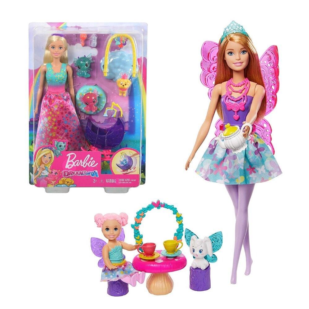 Boneca Barbie Dremtopia Dia de Pets festa do Chá Mattel