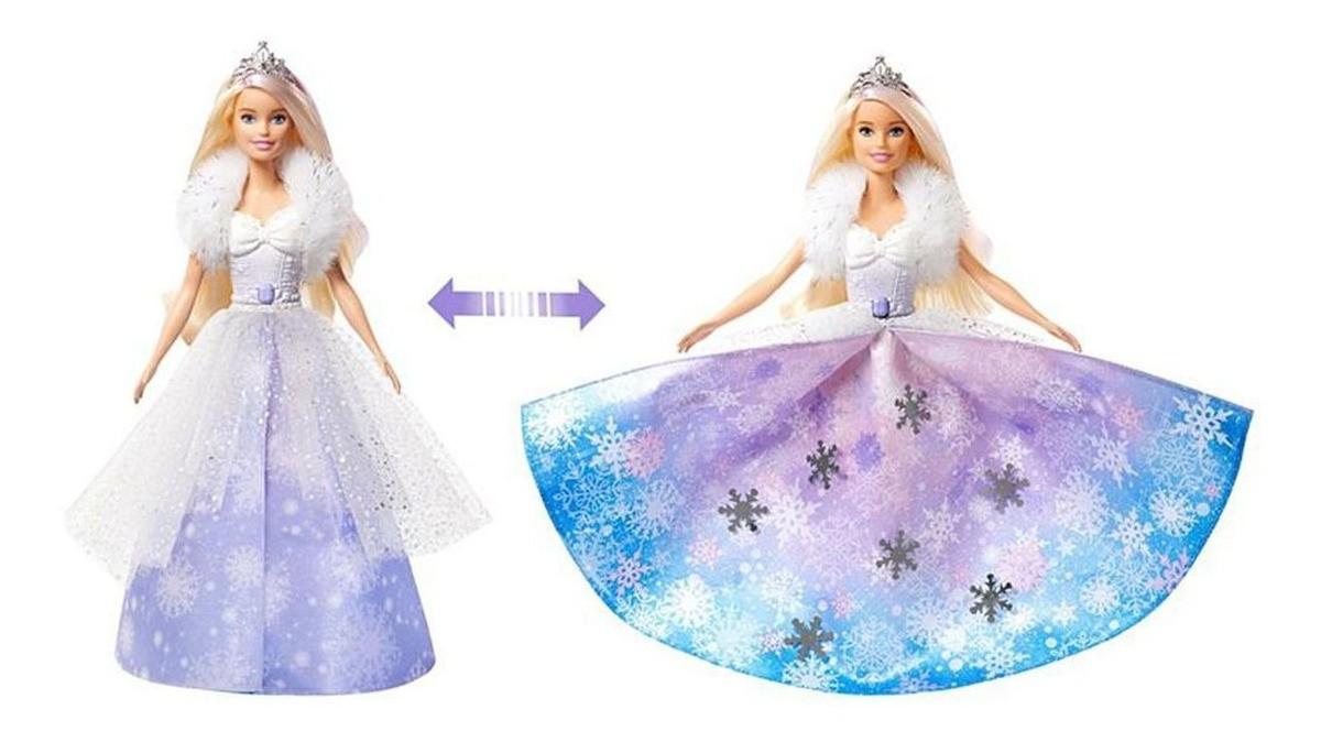 Boneca Barbie Fantasia Princesa Vestido Magico Mattel