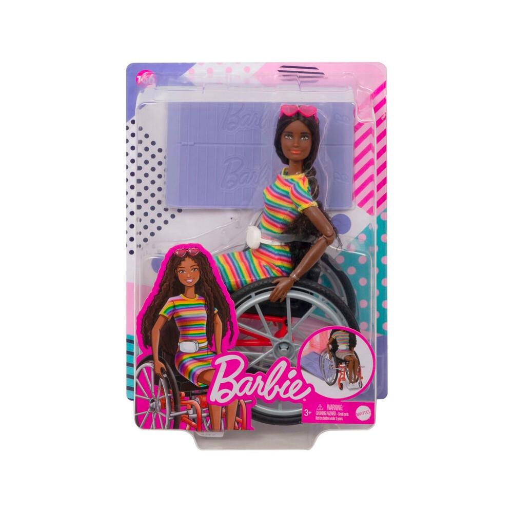 Boneca Barbie Fashionistas Negra Cadeira De Rodas - Mattel