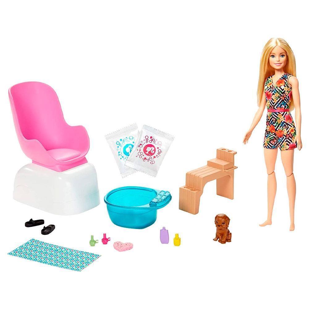 Boneca Barbie Salão De Manicure e Pedicure Ghn07