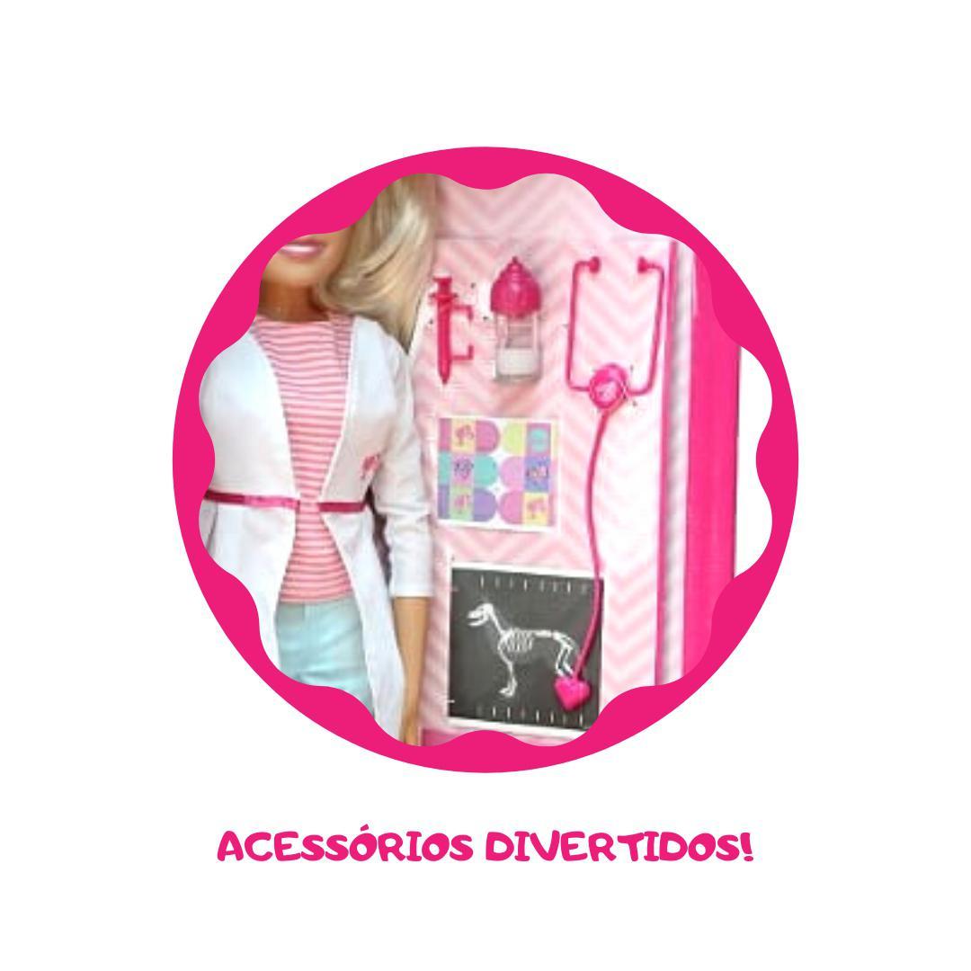Boneca Barbie Veterinaria Grande 65 Cm Articulada - Pupee