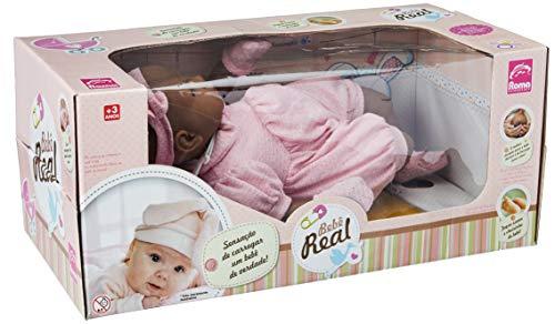 Boneca Bebê Real Negra 48 Cm  - Roma Toys Brinquedos