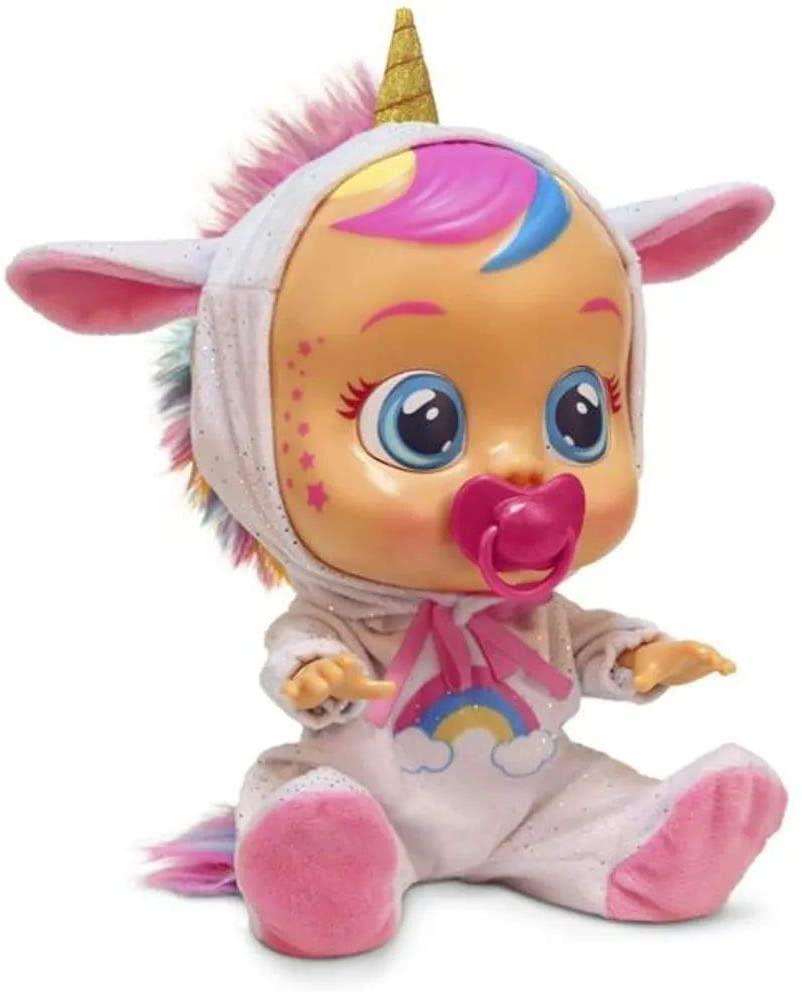 Boneca Crybabies Dreamy  Unicornio C/som Multikids