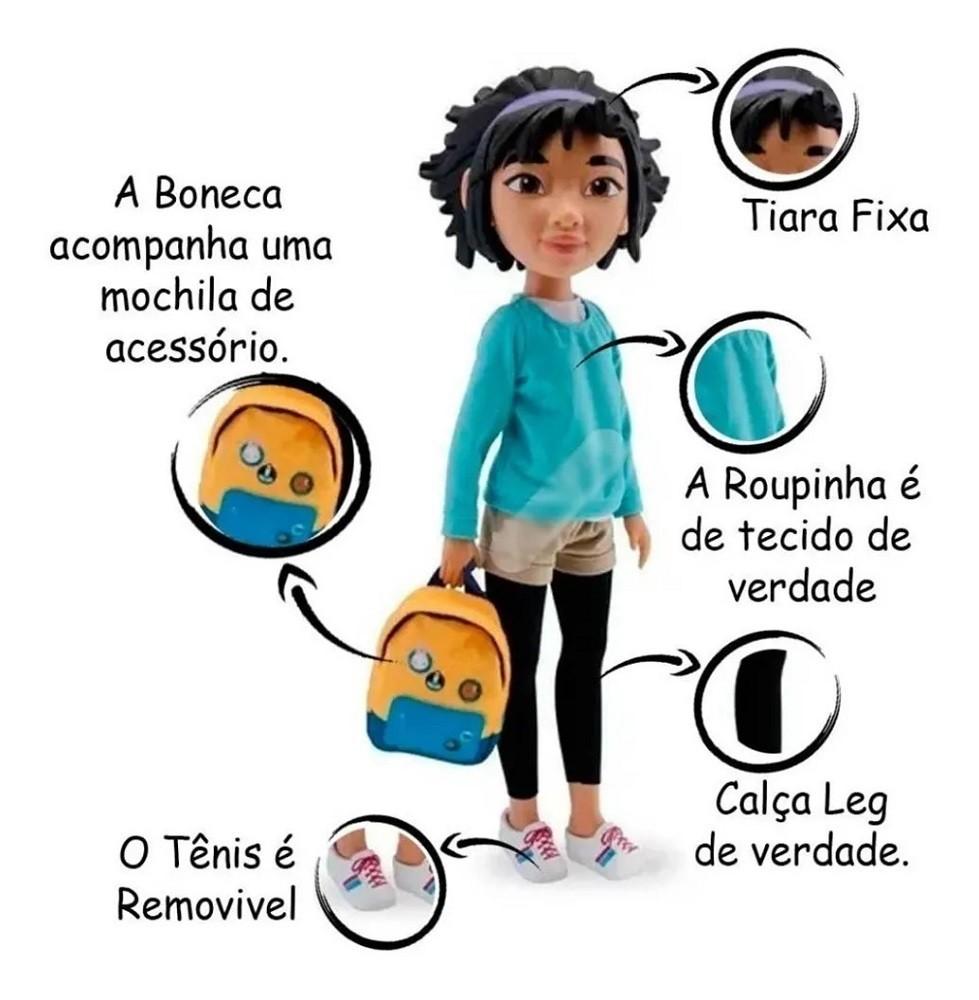 Boneca Fei Fei C/ Acessório 48 cm - A Caminho Da Lua Netflix