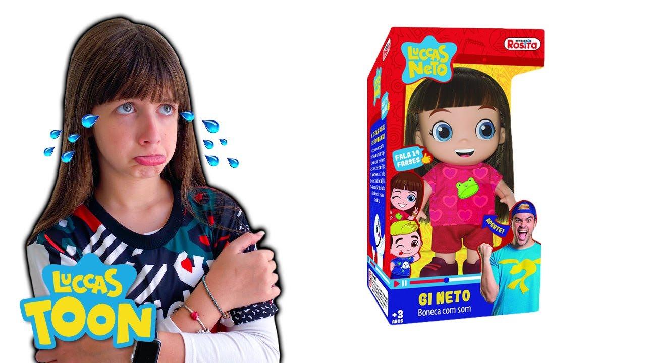 Boneca Gi Neto Aventureira 14 Frases Luccas Neto