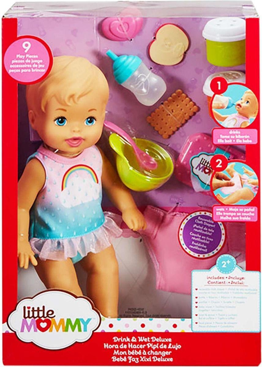 Boneca Little Mommy Bebe  Faz Xixi Deluxe - Mattel