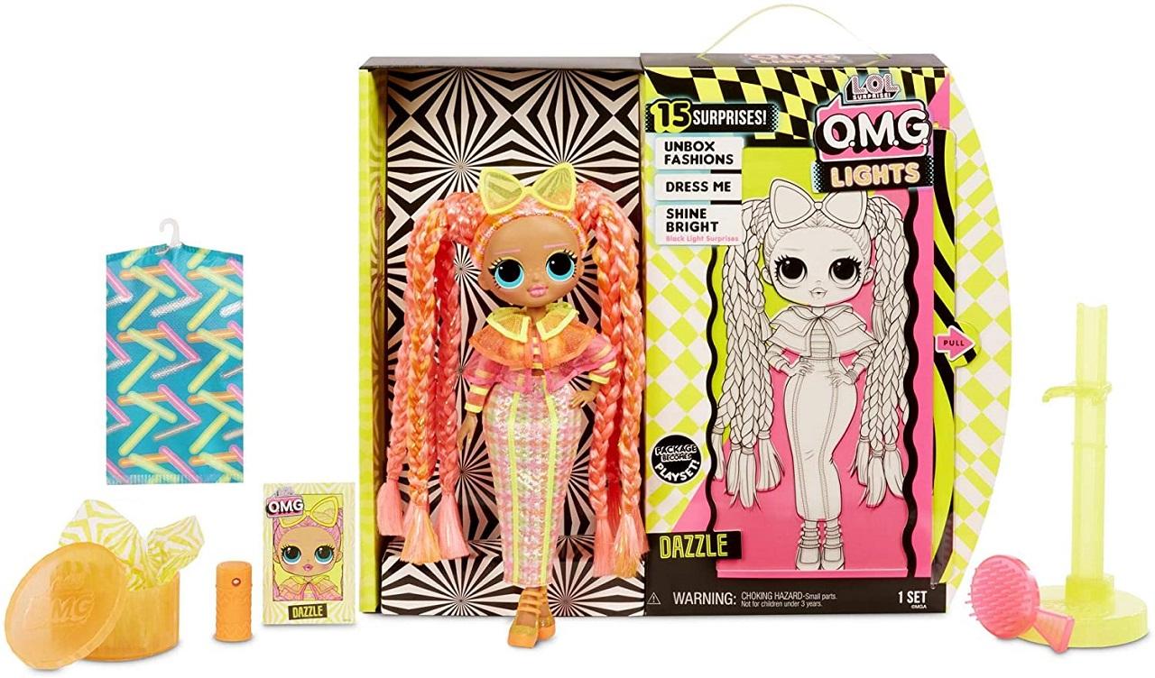 Boneca Lol Surprise Omg Lights Series Dazzle 15 Surpresas