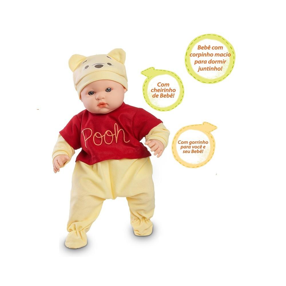 Boneco Bebe Pooh Coleção Melhores Amigos Com Acessórios