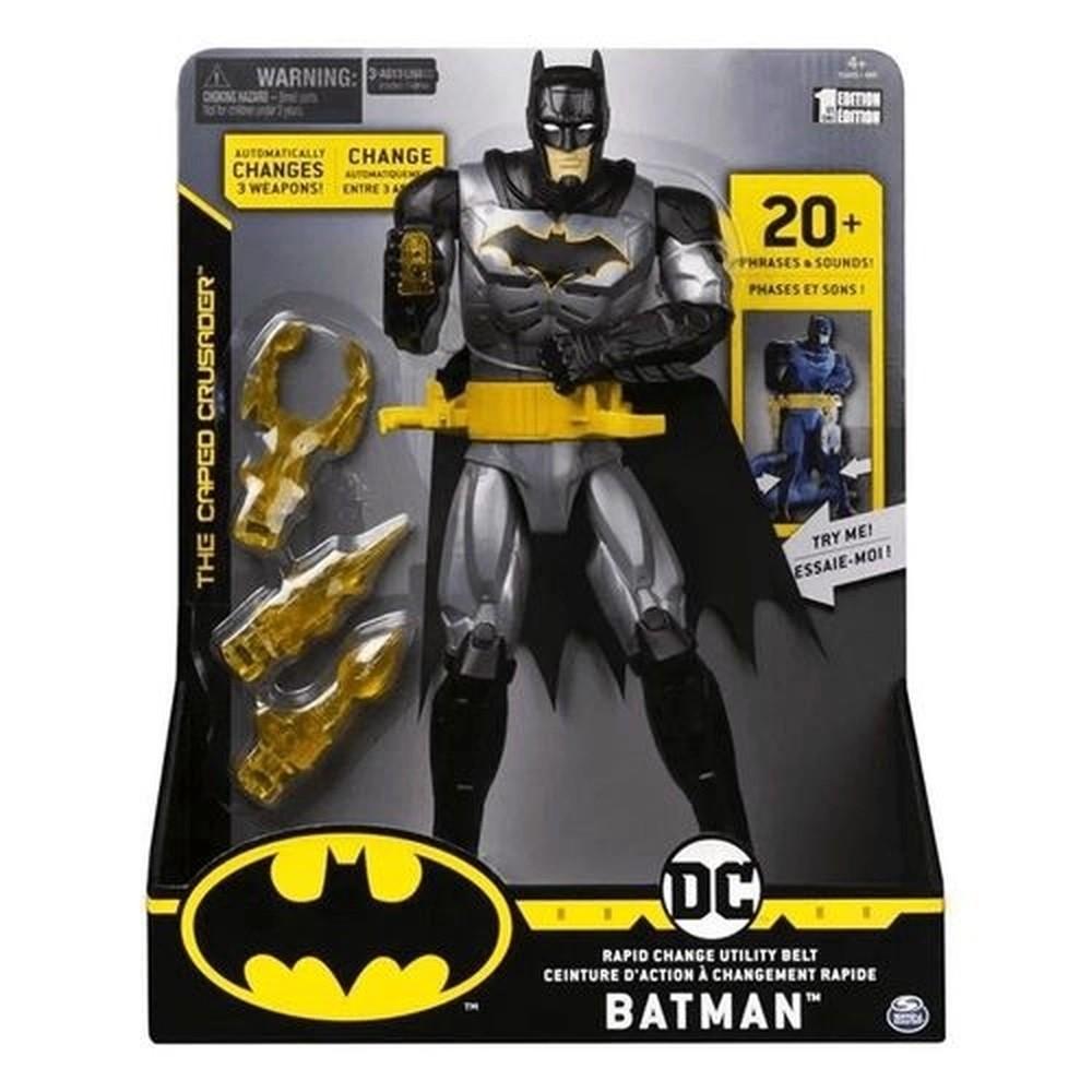 Boneco Dc Batman Com Luzes E Sons 30 Cm Sunny 2181 Original