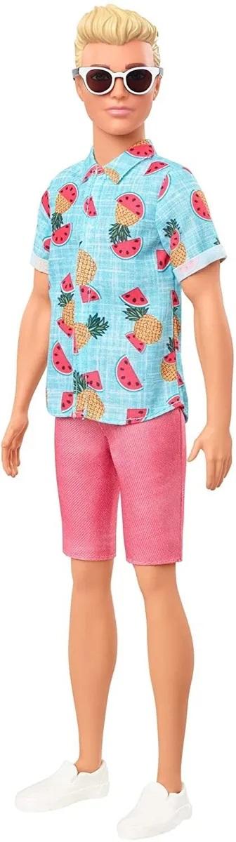 Boneco Ken Barbie Fashionista Loiro C/ Óculos 152 Mattel