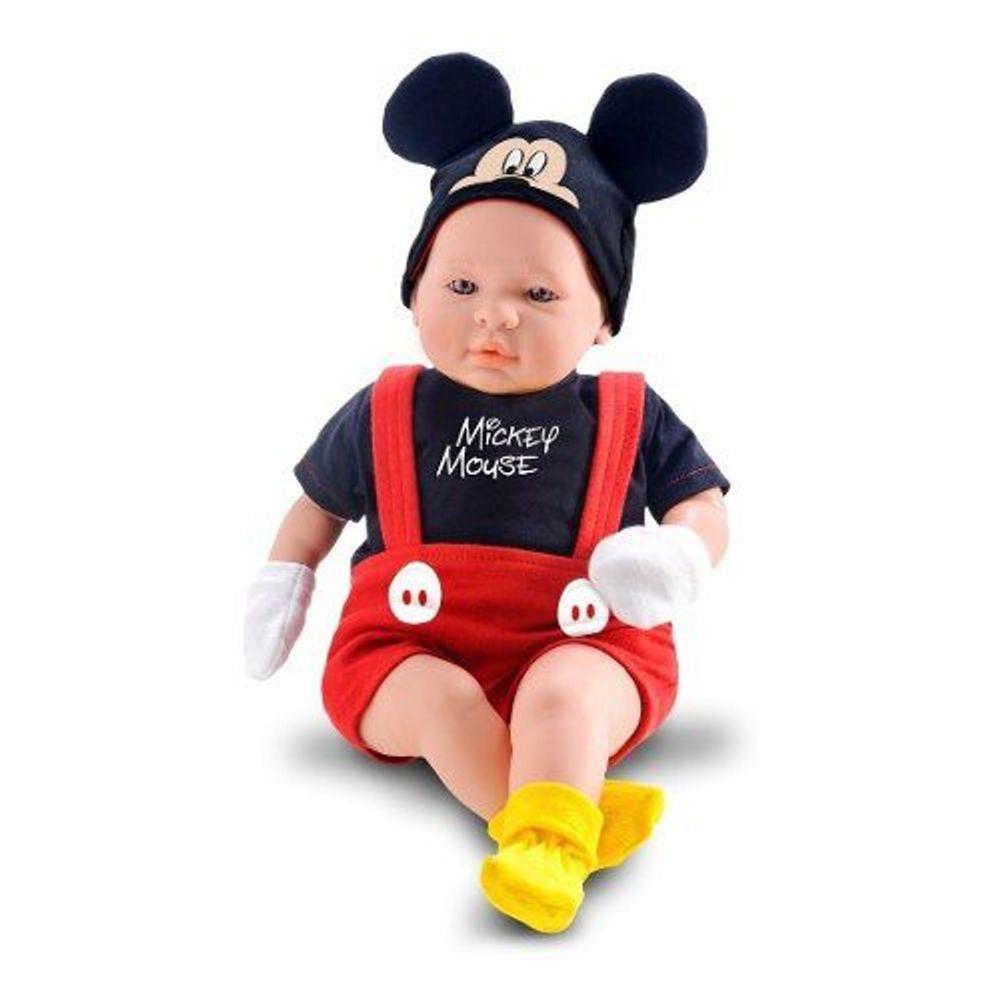 Boneco Mickey 48cm Classic Dolls Recém Nascido Roma