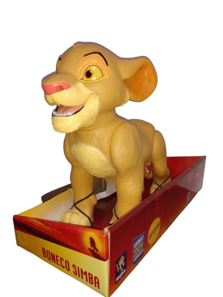 Boneco Simba Gigante 55 Cm Articulado O Rei Leão Mimo