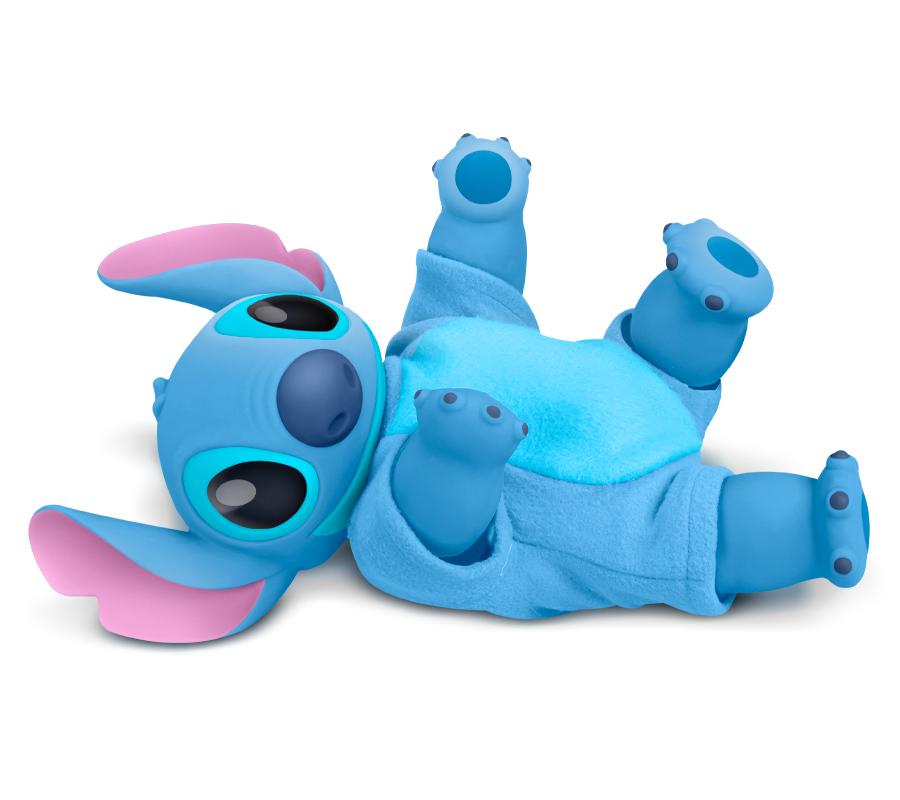 Boneco Stitch Baby Vinil C/ Pijama E Certidão De Nascimento
