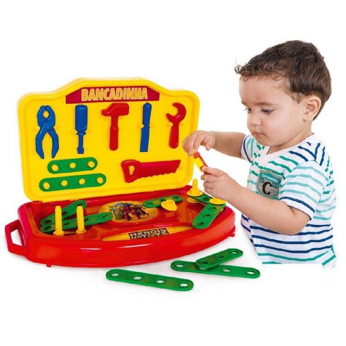 Brinquedo Bancadinha De Ferramentas De Plastico Super Toys
