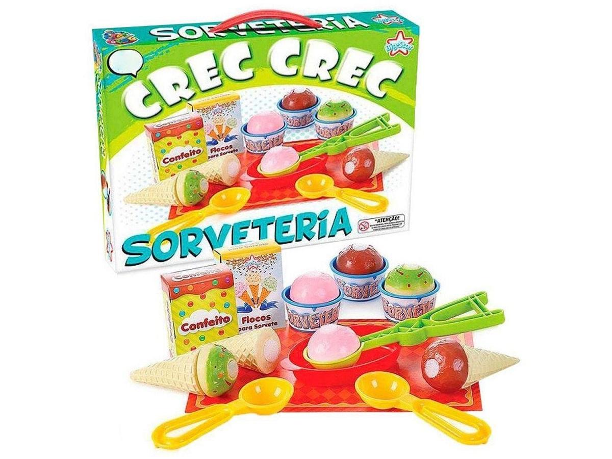 Brinquedo Comidinhas Crec Crec Sorveteria C/ Velcro Big Star