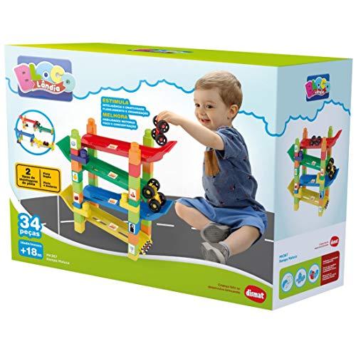 Brinquedo Educativo Rampa Maluca Com Blocos De Montar Dismat