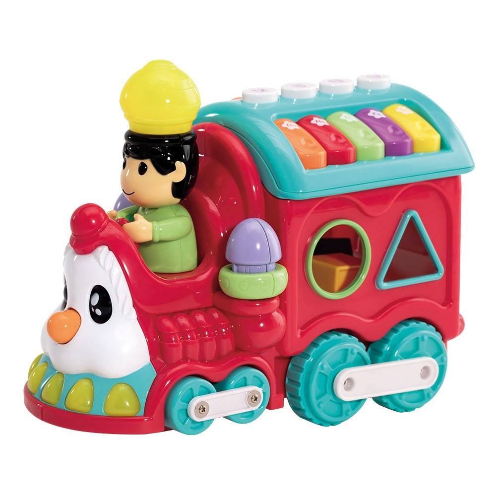 Brinquedo Trenzinho Bate E Volta Baby Infantil Diversão