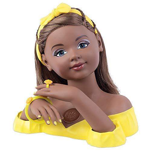 Busto Boneca Charmosa Negra Cabeleireira C/ Som - Cotiplás